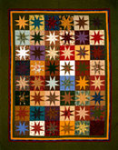 Patchwork quilt with blocks