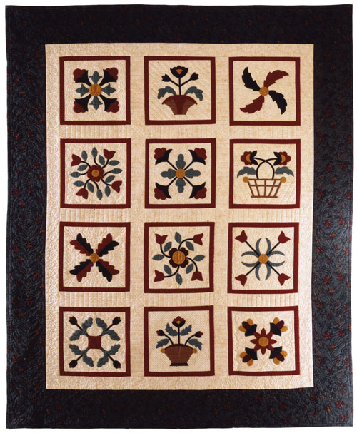 of a Sampler Quilt. You can click on the quilt for a larger image
